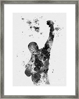 Rocky Balboa Framed Print by Rebecca Jenkins