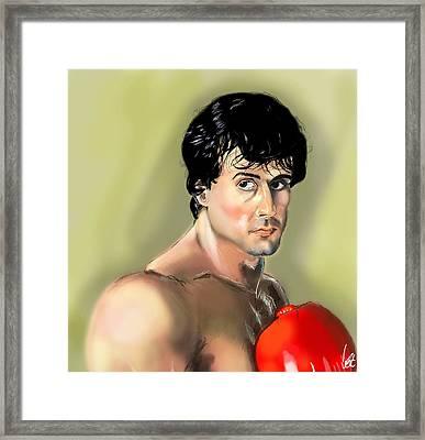 Rocky Balboa Framed Print by Vinny John Usuriello