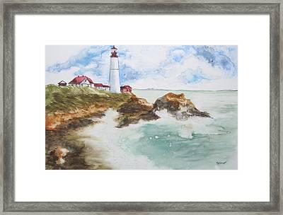 Rocky Coast Framed Print by Marsha Elliott