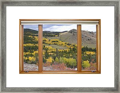 Rocky Mountain Autumn Picture Window View Framed Print by James BO  Insogna