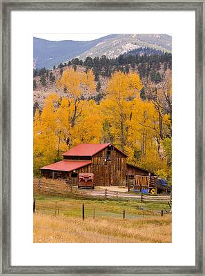 Rocky Mountain Barn Autumn View Framed Print by James BO  Insogna