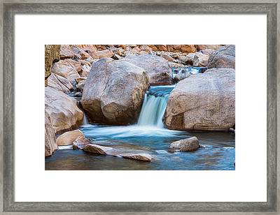 Rocky Mountain Canyon Waterfall Framed Print by James BO  Insogna