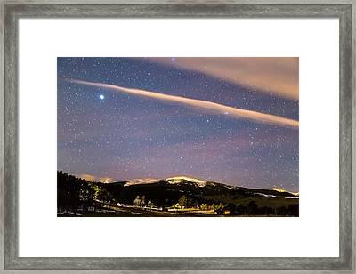 Rocky Mountain Cosmic Delight Framed Print by James BO Insogna