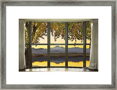 Rocky Mountain Golden Reflections Bay Window View Framed Print by James BO  Insogna