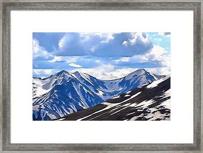 Rocky Mountain High Trail Ridge Road Framed Print by Dan Sproul