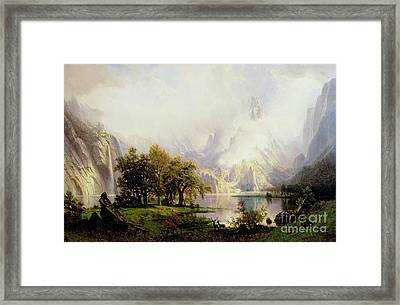 Rocky Mountain Landscape Framed Print by Albert Bierstadt