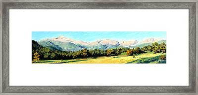 Rocky Mountain Panoramic Framed Print by Mary Giacomini