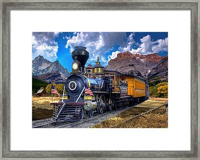 Rocky Mountain Train Framed Print by Ron Chambers