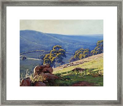 Rocky Outcrop Near Bathurst Framed Print by Graham Gercken