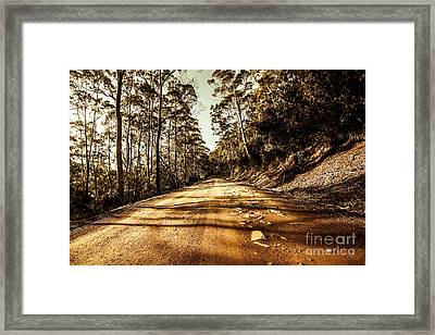 Rocky Road Framed Print by Jorgo Photography - Wall Art Gallery