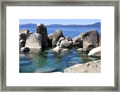 Rocky Shore Framed Print by Janet Fikar