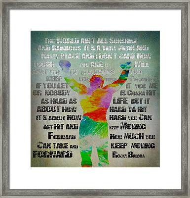 Rocky Water Color Framed Print by Bill Cannon