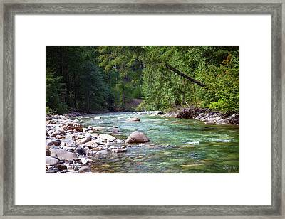 Rocky Waters In The North Cascades Landscape Photography By Omas Framed Print by Omaste Witkowski