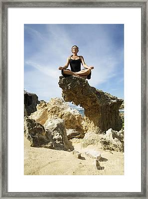 Rocky Yoga Framed Print by Kicka Witte - Printscapes