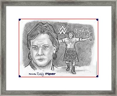 Roddy Piper Framed Print by Chris  DelVecchio