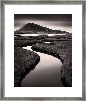 Northton Saltmarsh Framed Print by Dave Bowman