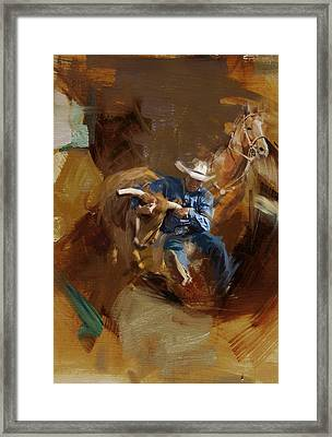 Rodeo 17 Framed Print by Maryam Mughal
