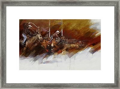 Rodeo 36 Framed Print by Maryam Mughal