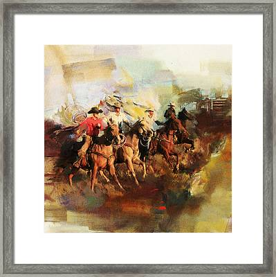 Rodeo 39 Framed Print by Maryam Mughal