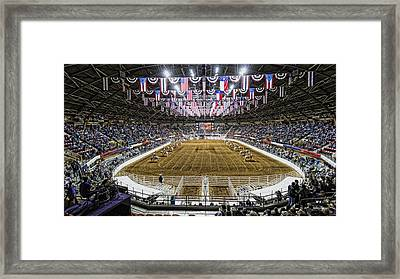 Rodeo Time In Texas Framed Print by Stephen Stookey