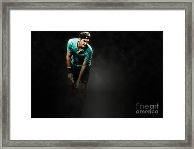 Rodger Federer Framed Print by Yordan Rusev