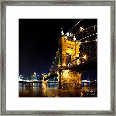 Roebling Brodge Framed Print by Twenty Two North Photography