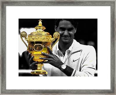 Roger Federer 2a Framed Print by Brian Reaves