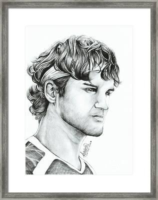 Roger Federer Framed Print by Abhilekh Phukan