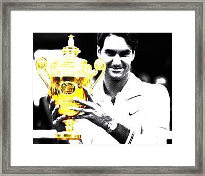 Roger Federer Framed Print by Brian Reaves