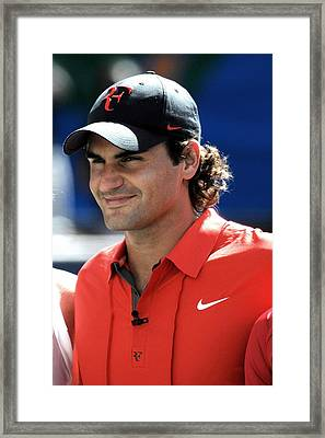 Roger Federer In Attendance For Arthur Framed Print by Everett