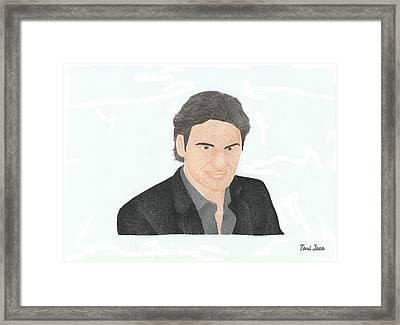 Roger Federer Framed Print by Toni Jaso