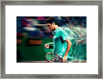 Roger Federer Framed Print by Yordan Rusev