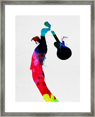 Roger Watercolor Framed Print by Naxart Studio