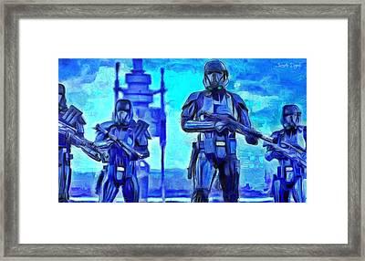 Rogue One Death Trooper - Pa Framed Print by Leonardo Digenio