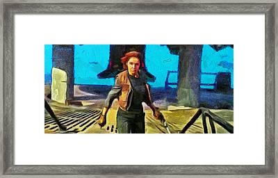 Rogue One Jyn Erso And Weapon - Da Framed Print by Leonardo Digenio