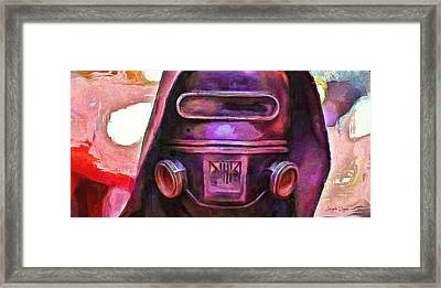 Rogue One Protection Helmet - Da Framed Print by Leonardo Digenio