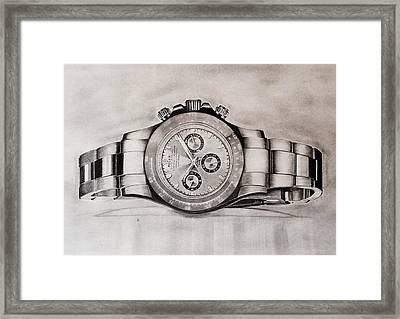 Rolex Framed Print by Krishna Regula