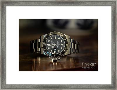 Rolex Submariner Framed Print by Dale Powell
