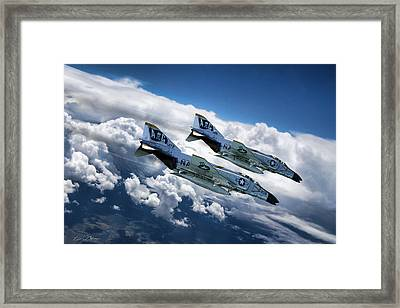 Roll The Bones Framed Print by Peter Chilelli