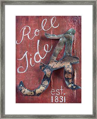 Roll Tide Framed Print by Racquel Morgan