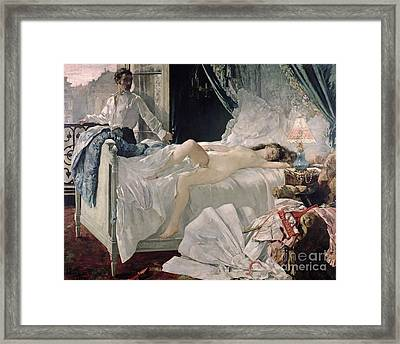 Bedroom Framed Print featuring the painting Rolla by Henri Gervex