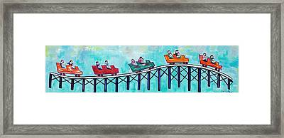 Roller Fun Framed Print by Patricia Arroyo