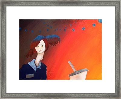 Roller Grrl  Aka Frickin' Palm Springs Framed Print by Ethan Harris