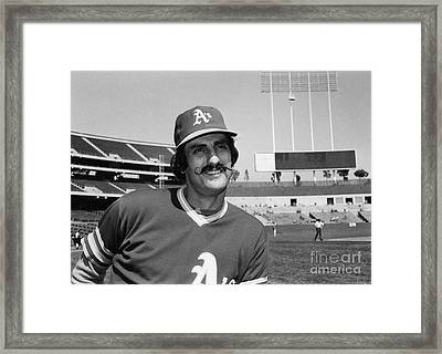 Rollie Fingers (1946- ) Framed Print by Granger