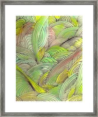 Rolling Patterns In Greens Framed Print by Wayne Potrafka