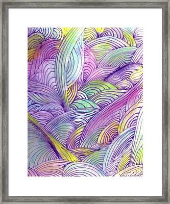 Rolling Patterns In Pastel Framed Print by Wayne Potrafka
