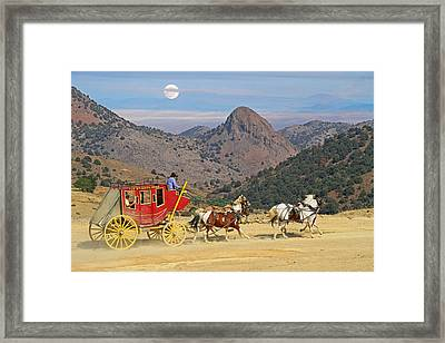 Rolling  Rolling  Rolling Framed Print by Donna Kennedy