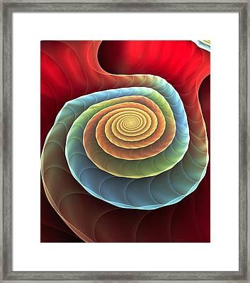Rolling Spiral Framed Print by Anastasiya Malakhova