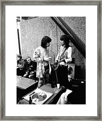 Rolling Stones 1970 Mick And Keith Framed Print by Chris Walter
