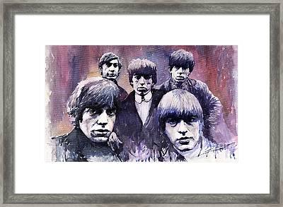 Rolling Stones  Framed Print by Yuriy  Shevchuk